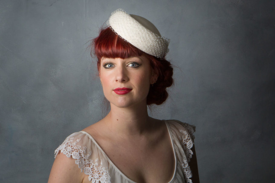 098038c31 1950s Style Bridal Pillbox Hat - Sahar Millinery | London
