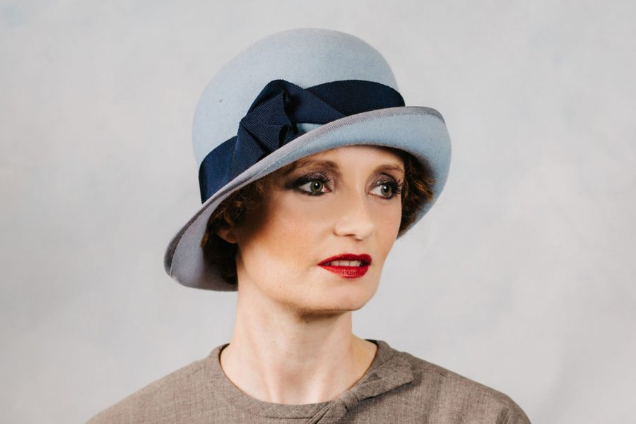 Baby Blue Lady Mary Style Hat.  Photo by Ronnie and Rose Photography.