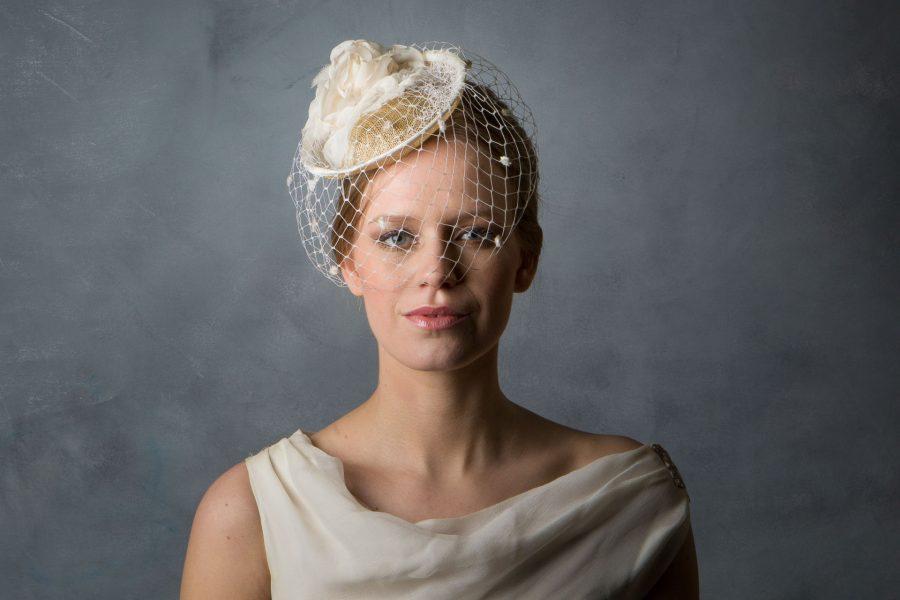 Vintage Style Bridal Birdcage Veil Flower Cocktail Hat