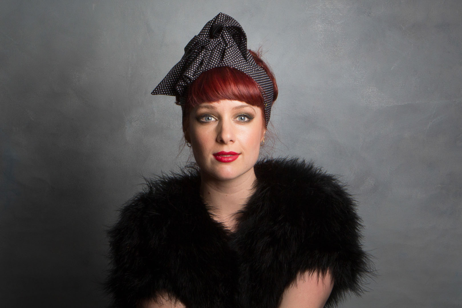 Black_polkadot_headband_vintage